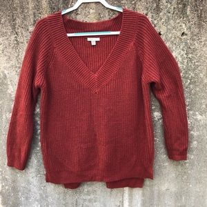 Cozy Casual Burnt Red/Rust Sweater